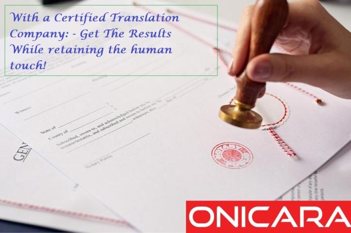 certified translation company