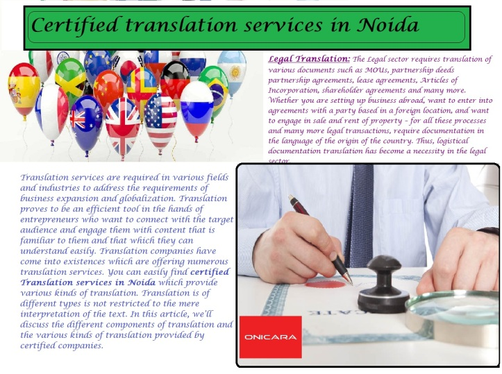 Certified translation services in Noida