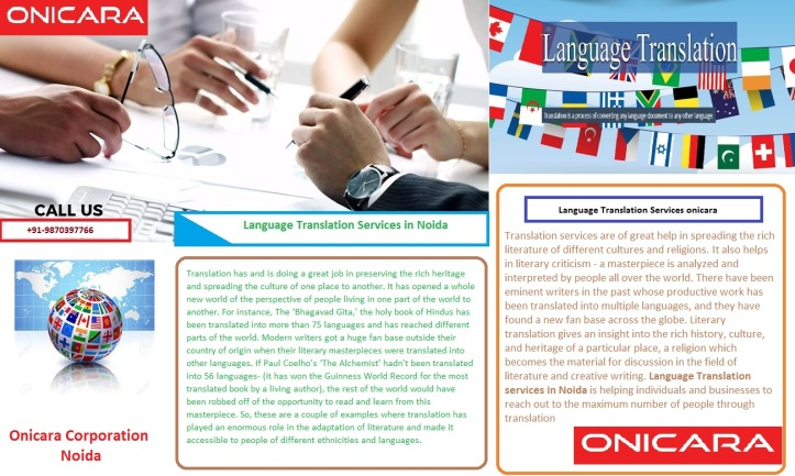 Translation services in Noida