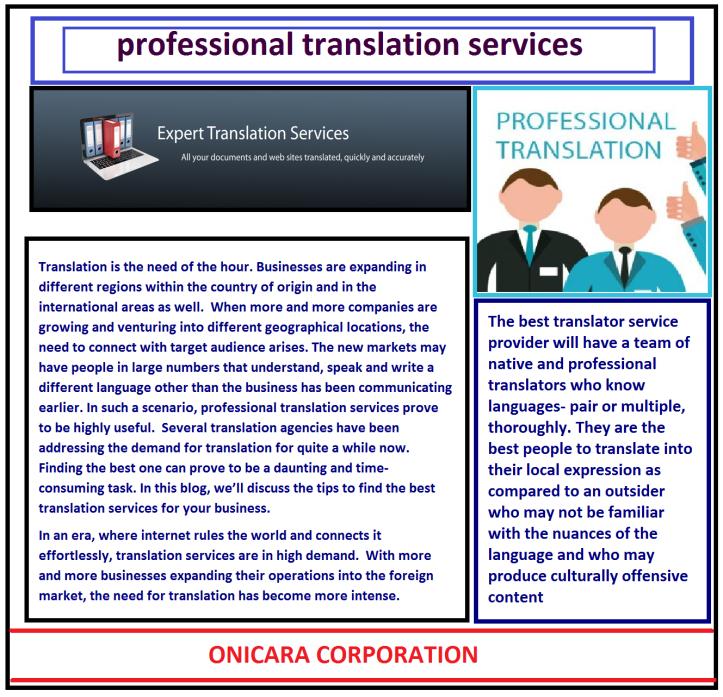 professional translation services