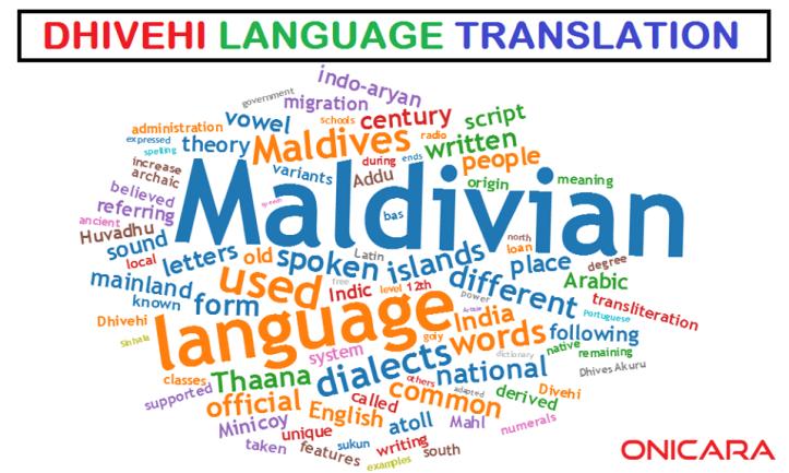 dhivehi language translation in noida