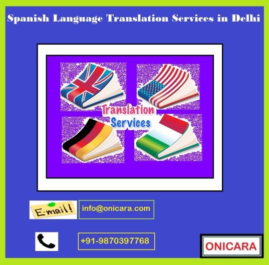 Spanish Language Translation Services in Delhi